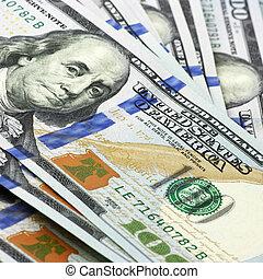 färsk, ena hundra dollar, lagförslaget, en