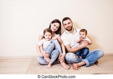 färsk, födelse, familj