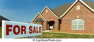 färsk, försäljning, hem
