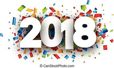 färsk, festlig, år, 2018, bakgrund.