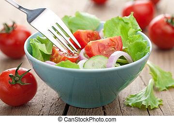 färsk grönsak, sallad