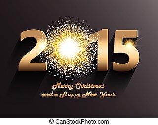 färsk, jul, bakgrund, år