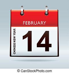 färsk, kalender, kinesisk, år