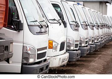 färsk, lastbilar
