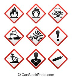 färsk, säkerhet, symboler