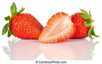färskt smultron, frukt