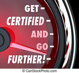 få, auktoriserad revisor, och, gå, längre, hastighetsmätare,...