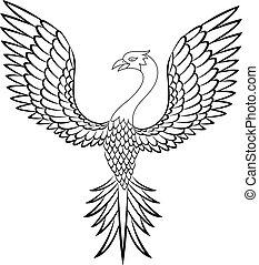 fågel, phoenix