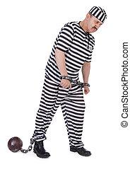 fånge, handcuffed