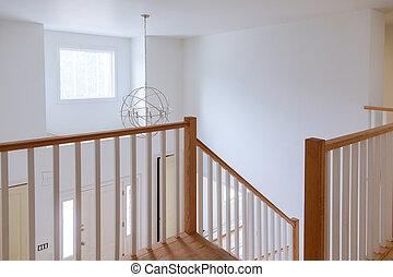 færdigbehandl, sheetrock, ind, nyt hjem, konstruktion