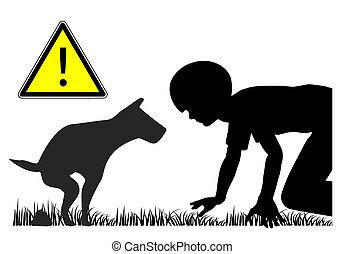 fèces, chien, gosses, nuisible