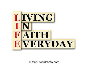 fé, vida