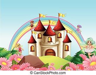 fée, château, moyen-âge