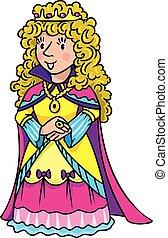 fée, reine, ou, beauté, princesse