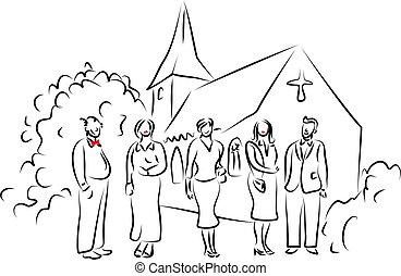 fél, esküvő