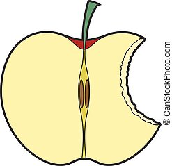 fél eszik, alma
