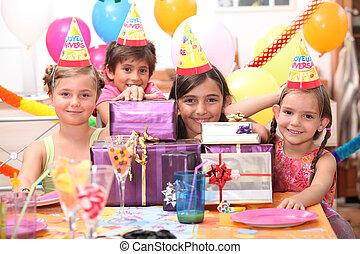 fél, születésnap, gyermek