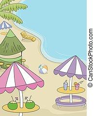 fél, tengerpart