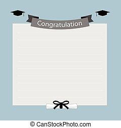 félicitation, bannière, remise de diplomes
