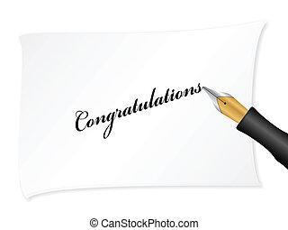 félicitations