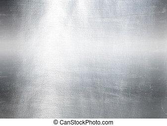 fém tányér, acél, háttér., szevasz, res, struktúra
