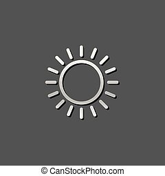 fémből való, ikon, -, előre lát, részben, napos