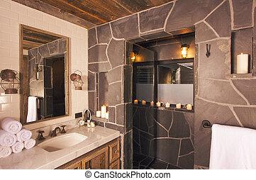 fényűzés, ásványvízforrás, fürdőszoba