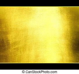 fényűzés, szevasz, texture., arany-, háttér., res