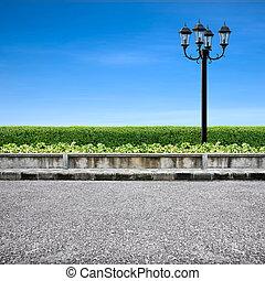 fény, útburkolat, utca