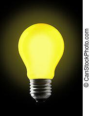 fény, bulb., sárga