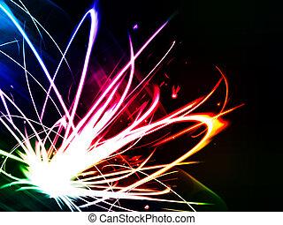 fény, elvont, színes, háttér