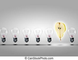 fény, evez, gumók