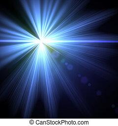 fény, fellobbanás, különleges, effect., vektor,...