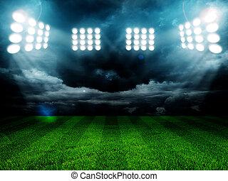 fény, közül, stadion