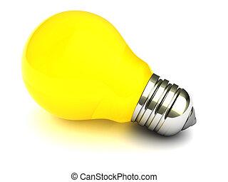 fény, sárga, gumó