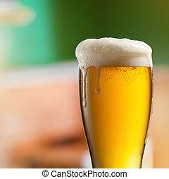 fény, sör, kocsma, pohár