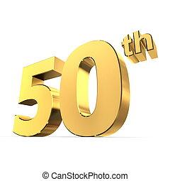 fényes, -, arany, 50th