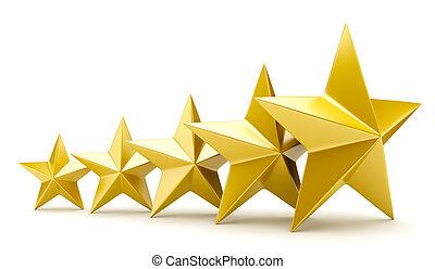 fényes, arany-, csillaggal díszít