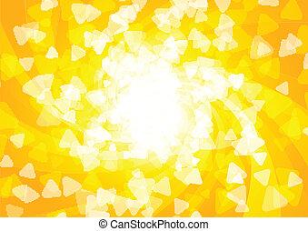 fényes, vektor, napos, háttér