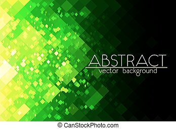 fényes, zöld, rács, elvont, horizontális, háttér