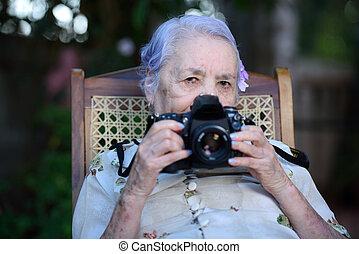 fényképész, nagyanyó