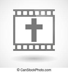 fényképészeti, keresztény, kereszt, film, ikon