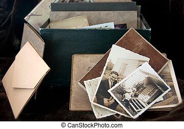 fénykép, öreg, gyűjtés