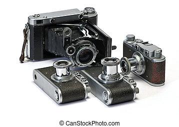fénykép, cameras, öreg