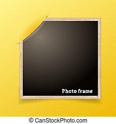 fénykép, frame., tervezés, decoretive, template., grunge, határ