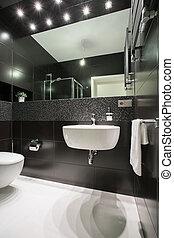 fénykép, közül, kizárólagos, fürdőszoba