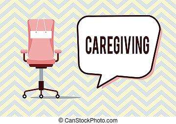 fénykép, segítség, szöveg, eltart, caregiving., aláír, kifizetetlen, cselekedet, fogalmi, segély, idősebb ember, ellátás, kiállítás, segítség, törődik