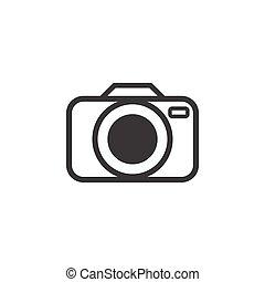 fényképezőgép, ábra, vektor, tervezés, sablon, ikon