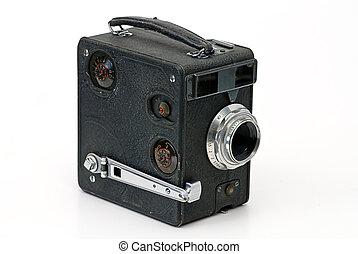 fényképezőgép, öreg, mozi-