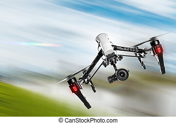 fényképezőgép, 4k, flying., henyél
